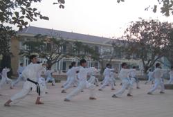 Niềm đam mê võ thuật và những tấm huy chương đã đạt được là nguồn khích lệ, động viên rất lớn đối với học sinh trường THPT Lương Sơn