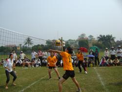 Bóng chuyền nữ xã Hợp Hoà giành được nhiều thành tích cao tại các giải đấu do huyện tổ chức