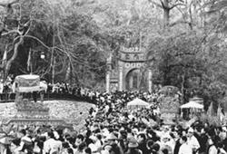 Rước Kiệu tại lễ hội đền Hùng (Phú Thọ)