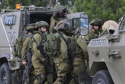 Binh sỹ Israel tại biên giới Dải Gaza ngày 26/3.