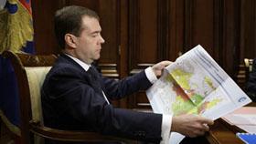Tổng thống Medvedev đang xem xét giảm múi giờ Nga xuống còn 5.