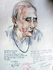 Mẹ Lê Thị Có, người gây xúc động nhiều cho họa sĩ Ái Việt.