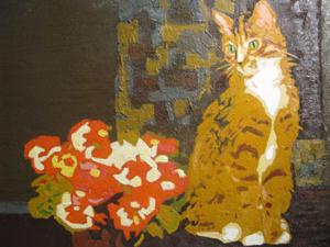 """Mèo là đề tài chủ yếu của """"Khai bút xuân 2011""""."""