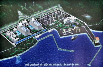 Phối cảnh Nhà máy Điện hạt nhân tại tỉnh Ninh Thuận.
