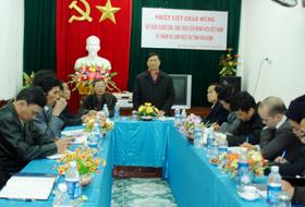 Đồng chí Đào Xuân Cần, Chủ tịch Liên minh HTX Việt Nam phát biểu chỉ đạo tại buổi làm việc.