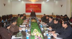 Đ/C Bùi Ngọc Đảm, Phó Chủ tịch Thường trực UBND tỉnh, Trưởng Tiểu ban phát biểu kết luận phiên họp.