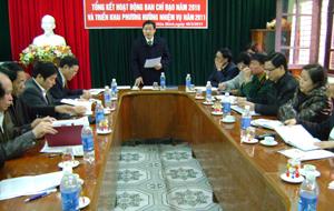 Bùi Văn Cửu, Phó Chủ tịch UBND tỉnh phát biểu chỉ đạo tại hội nghị.