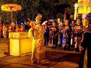 Cảnh trong lễ tế Xã Tắc tại Huế.