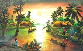 Một tác phẩm tranh sơn mài của Việt Nam  (Ảnh minh họa, nguồn: Internet)