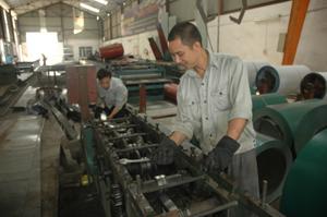 Công ty TNHH Đức Thịnh trong KCN bờ trái sông Đà hiện tạo việc làm cho 24 lao động với thu nhập bình quân năm 2010 đạt gần 3 triệu đồng/người/tháng.