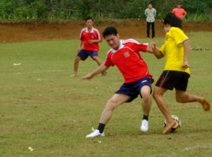 Một trận đấu tại giải