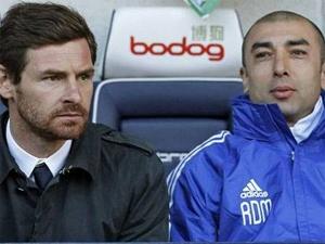 Roberto Di Matteo (phải) khi còn trợ lý cho Andre Villas-Boas. (Nguồn: Getty)