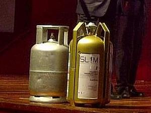 Mẫu bình gas bằng composite. (Nguồn: themalaysianinsider.com)