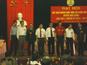 Hội nạn nhân chất độc da cam/dioxin huyện Mai châu khoá I, nhiệm kỳ 2012-2017 ra mắt đại hội.