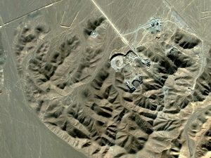 Một cơ sở được cho là nơi Iran làm giàu urani ở ngoại ô Qom ngày 26/9/2009. (Nguồn: AFP/TTXVN)