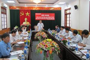 Đồng chí Đinh Duy Sơn, Phó Chủ tịch HĐND tỉnh, Trưởng BCĐ tỉnh phát biểu kết luận hội nghị.