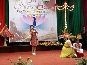 Phần thể hiện tài năng của thí sinh đơn vị đạt giải nhất tại hội thi.