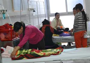 Buồng hô hấp, Bệnh viện đa khoa tỉnh luôn trong tình trạng đông bệnh nhi.