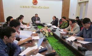 Đồng chí Trần Đăng Ninh – Phó Chủ tịch UBND tỉnh chủ trì hội nghị trực tuyến tại điểm cầu tỉnh ta.