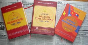 Trong 3 năm 2009- 2011, tỉnh ta đã xuất bản được 45 đầu sách lịch sử Đảng bộ, lịch sử truyền thống.