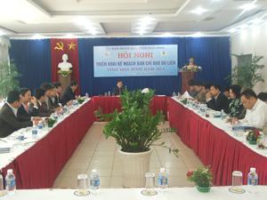 Đồng chí Bùi Văn Cửu, Phó Chủ tịch TT UBND tỉnh, Trưởng BCĐ du lịch tỉnh phát biểu chỉ đạo hội nghị.