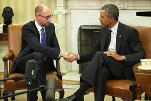 Ông Arseniy Yatsenyuk hội đàm cùng Tổng thống Mỹ Obama