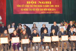Mừng thọ cho hội viên cao niên được Hội Hưu trí Tổng Công ty Sông Đà tại Hòa Bình thực hiện hàng năm.