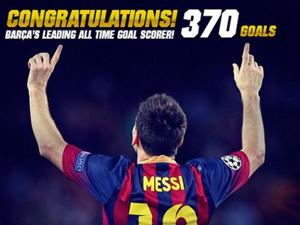 Lionel Messi đi vào lịch sử khi ghi bàn thứ 370.