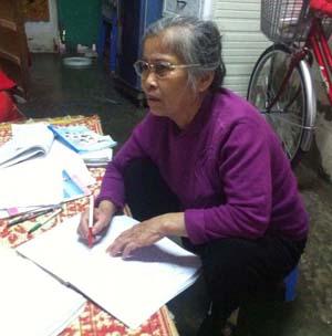 Bà Nguyễn Thúy Lan trong cuộc sống đời thường.