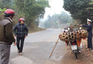 Chốt kiểm dịch xã Yên Nghiệp (Lạc Sơn) kiểm soát lưu thông, vận chuyển ngăn chặn có hiệu quả sự xâm nhiễm dịch cúm gia cầm.