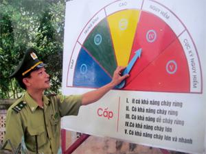 Lực lượng kiểm lâm thường xuyên cập nhật thông tin về nguy cơ cháy rừng để kịp thời thông báo cho dân cư trên địa bàn triển khai các biện pháp phòng ngừa.