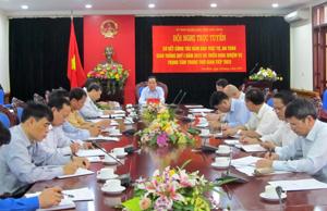 Đồng chí Nguyễn Văn Quang, Chủ tịch UBND tỉnh, Trưởng Ban An toàn giao thông tỉnh chủ trì hội nghị.