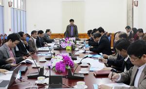 Đồng chí Nguyễn Văn Dũng, Phó Chủ tịch UBND tỉnh, Trưởng Ban Chỉ đạo kiểm kê rừng tỉnh Hòa Bình phát biểu kết luận hội nghị.
