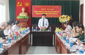 Đồng chí Nguyễn Văn Chương, Phó Chủ tịch UBND tỉnh, Trưởng Ban công tác gia đình tỉnh kết luận hội nghị.