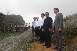 Đồng chí Nguyễn Văn Quang, Chủ tịch UBND tỉnh cùng đoàn công tác khảo sát thực tế tại đảo Thung – xã Tiền Phong – huyện Đà Bắc.