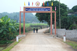 Mường Lầm giữ vững danh hiệu làng văn hóa cấp huyện trong 20 năm.