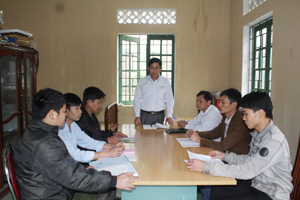 Ủy ban bầu cử xã Lỗ Sơn họp triển khai công tác bầu cử ĐBQH khóa XIV và HĐND các cấp nhiệm kỳ 2016 – 2021.