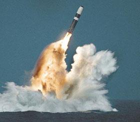 Tên lửa đạn đạo Trident của Mỹ.