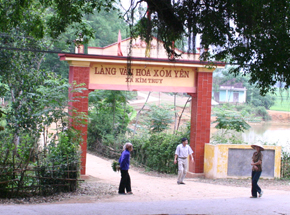Làng văn hóa xóm Yên xã Kim Truy (Kim Bôi) tích cực xây dựng đời sống văn hoá.