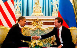 Tổng thống Dmitry Medvedev và tổng thống Barack Obama