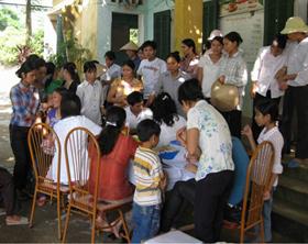 Khảo sát, tuyên truyền, tư vấn bệnh Thalassemia tại 3 xã của huyện Kim Bôi.