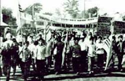 Học sinh sinh viên Sài Gòn xuống đường, hát vang những bài ca yêu nước năm 1974