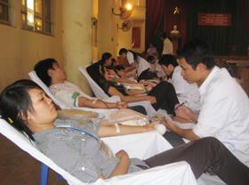 Đợt hiến máu tình nguyện thứ hai, thành phố Hòa Bình đã thu được 233 đơn vị máu.