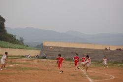 Giải đấu bóng đá giữa 2 đội Đài Truyền thanh - Truyền hình huyện và Khối dân chính Đảng