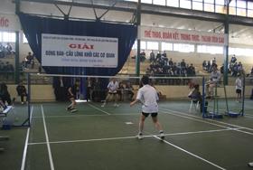 Các vận động viên thi đấu tại giải bóng bàn - cầu lông Khối các cơ quan Đảng tỉnh năm 2011.