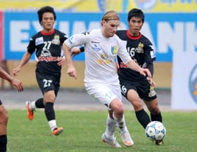 Chân sút Mathias được kỳ vọng lập công trước SL Nghệ An.