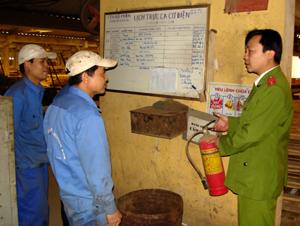 Nhiều bình chữa cháy ở Công ty CP Hương Sơn hiện không được sử dụng.