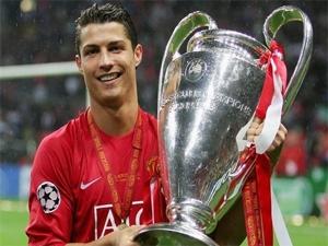 Cristiano Ronaldo khi còn thi đấu trong màu áo của M.U.