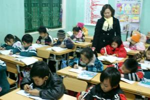 Một tiết học của trường tiểu học TT Mai Châu.