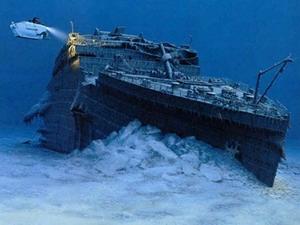 Một phần xác con tàu Titanic dưới đáy biển. (Nguồn: Internet)